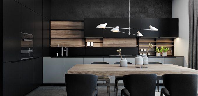 Colores Oscuros Para Una Cocina Moderna Donpiso Blog