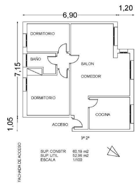116480 - Piso en venta en Sabadell
