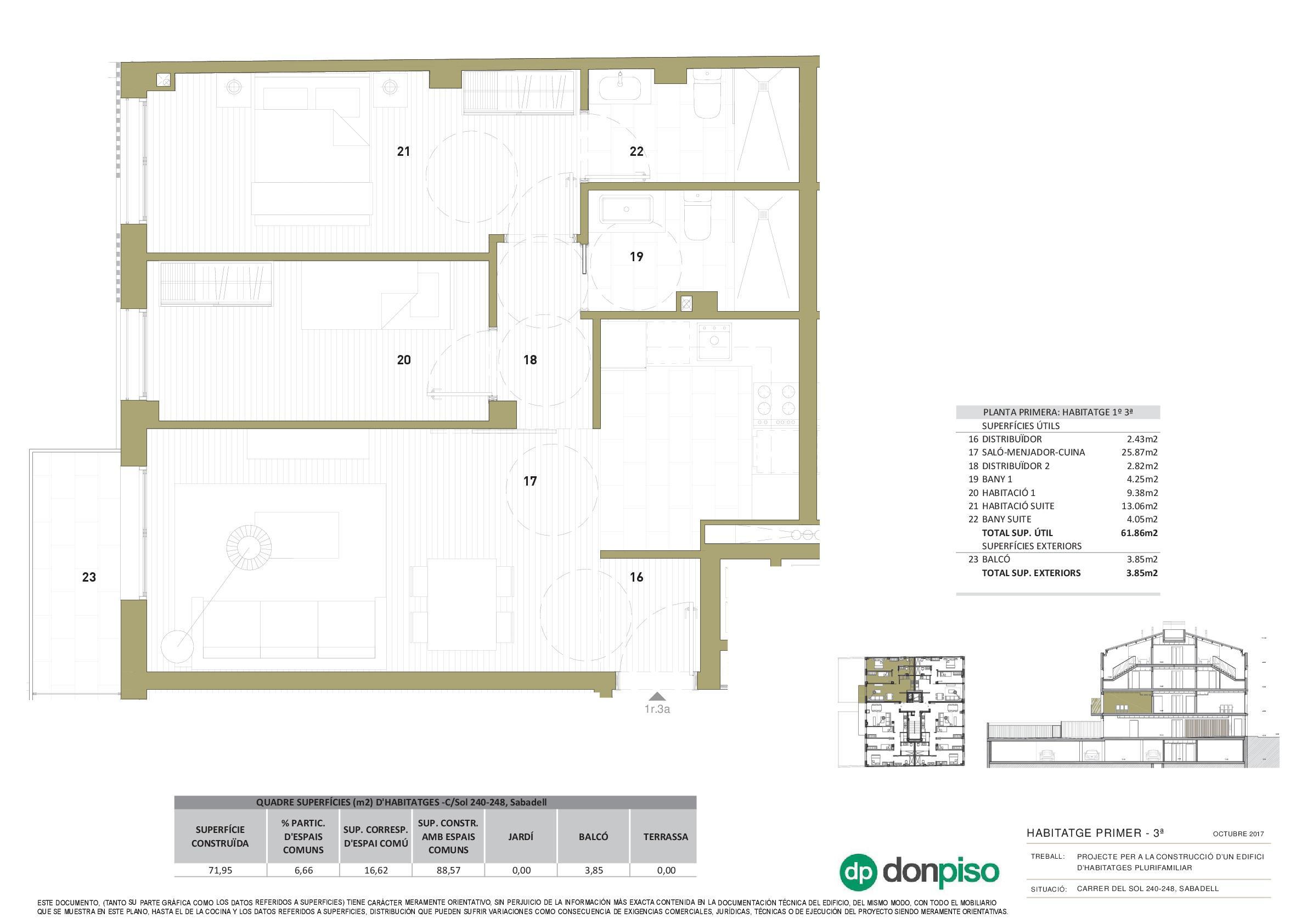 Imagen 3 Piso en venta en Sabadell / Centro. A 1 minuto de la Rambla de Sabadell