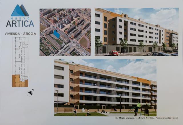 Imagen 1 Inmueble 242190 - Ático en venta en Pamplona/iruña / Junto al Parque de los Aromas